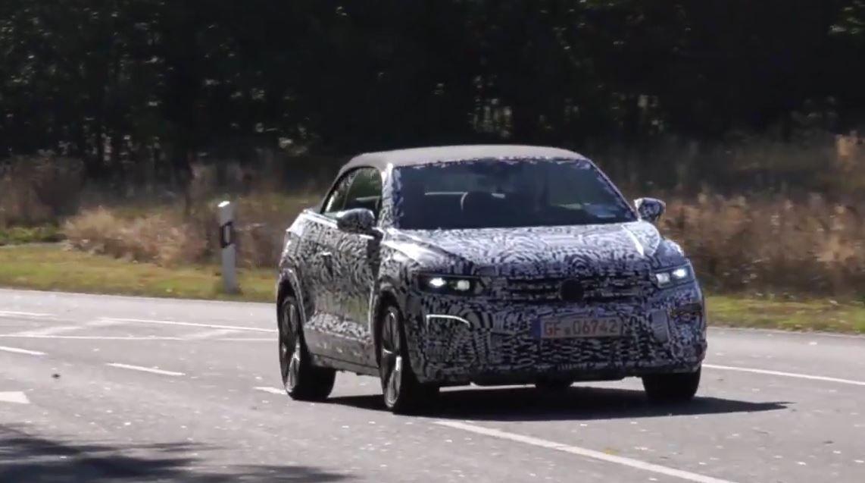 Volkswagen T-Roc Cabrio потрапив в об'єктив папараці