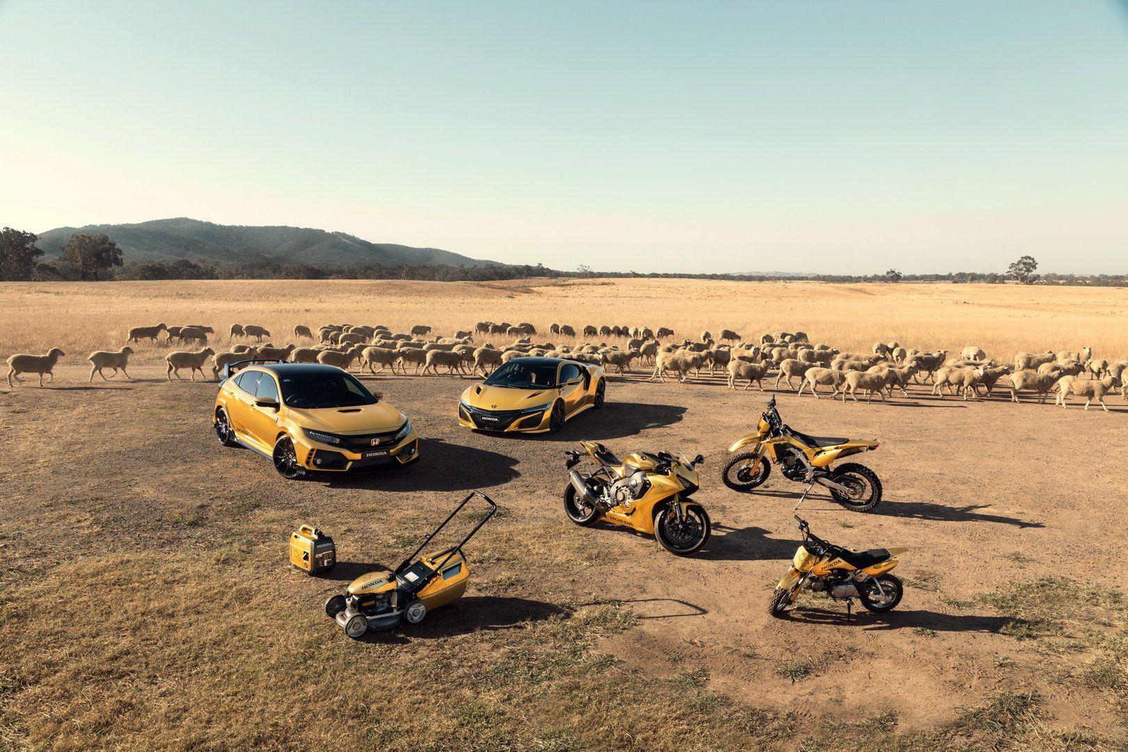 Honda подарувала собі золоті спорткари, мотоцикли і газонокосарку