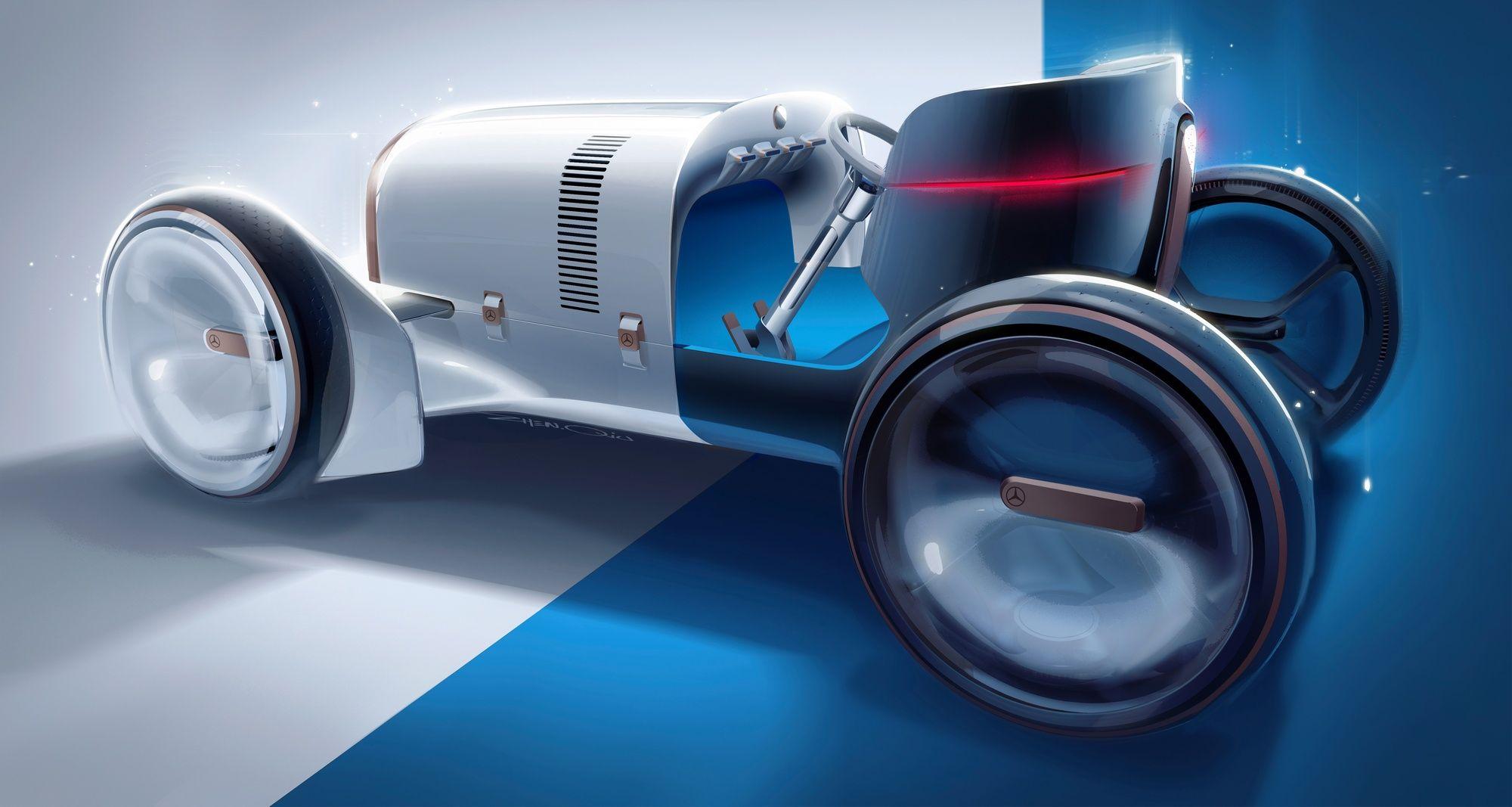 Ретрофутуризм від Mercedes зачаровує естетикою форм