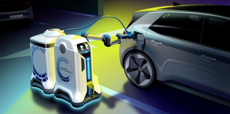 Volkswagen створив роботів для зарядки електрокарів