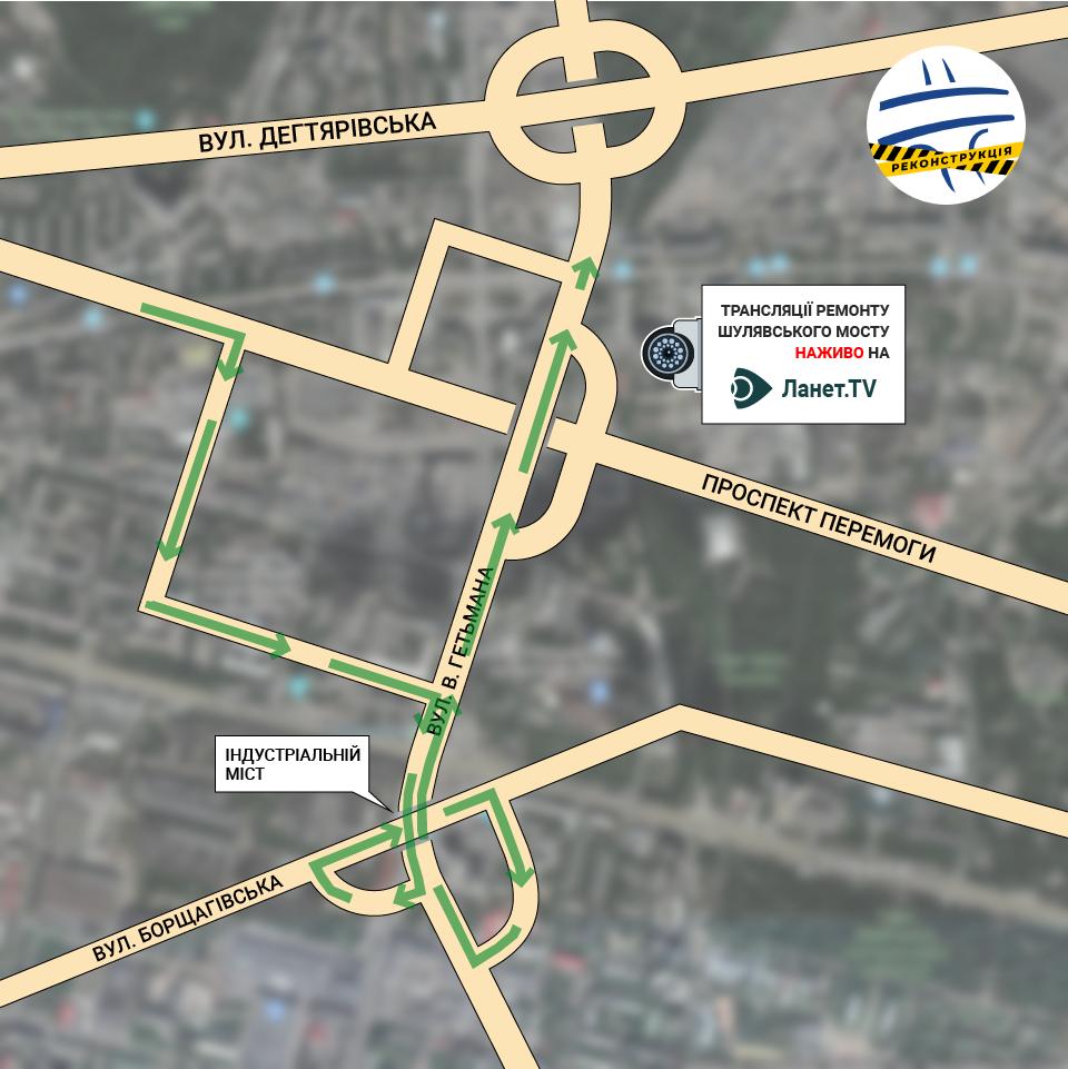 Як проїхати по Шулявському мосту: схеми проїзду