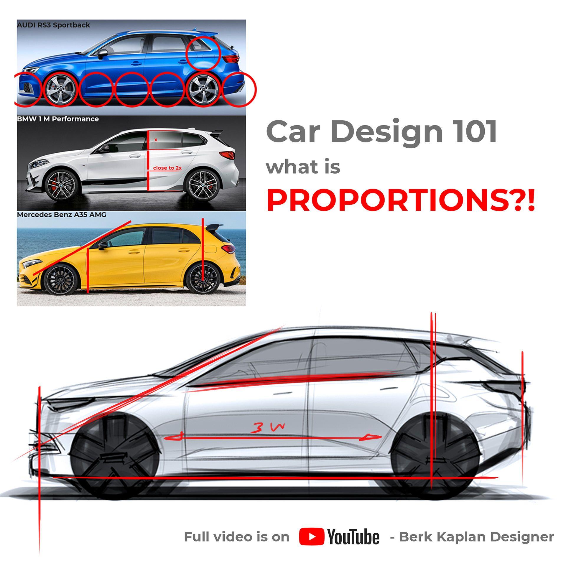 Якби да Вінчі малював автомобілі: художник пояснив у відео, як створити ідеальні пропорції машини