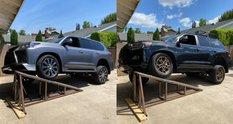 Toyota Land Cruiser проти Lexus LX 570: тест підвіски на рампі