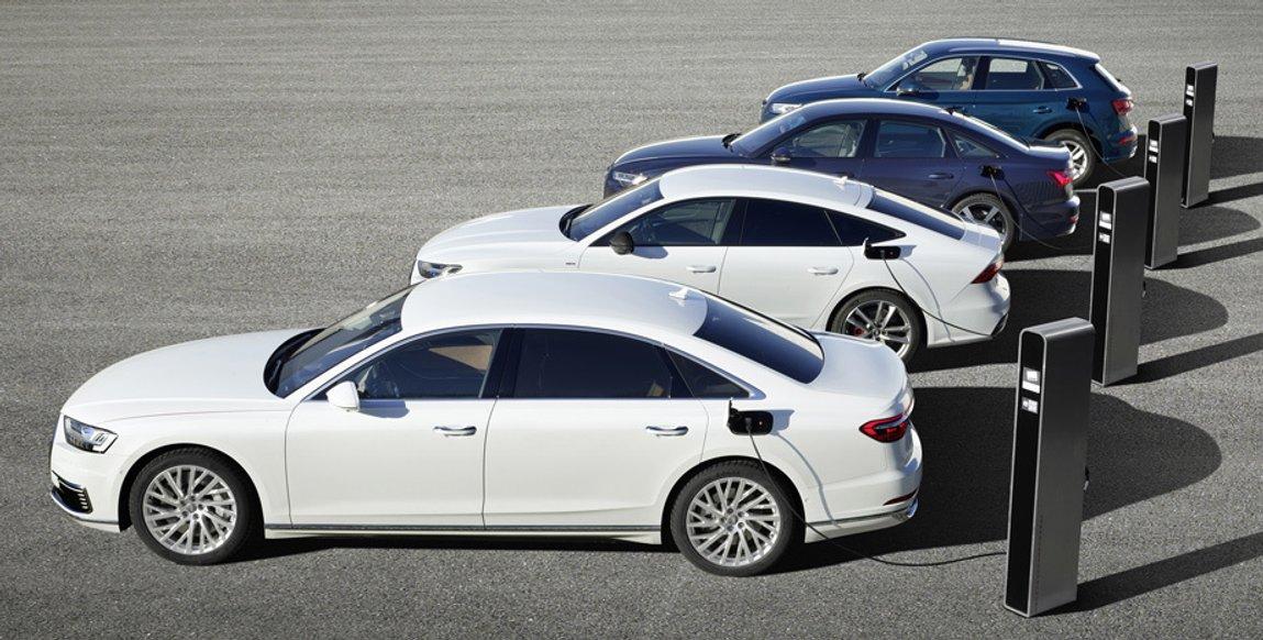 Чотири моделі Audi підсіли на батарейки