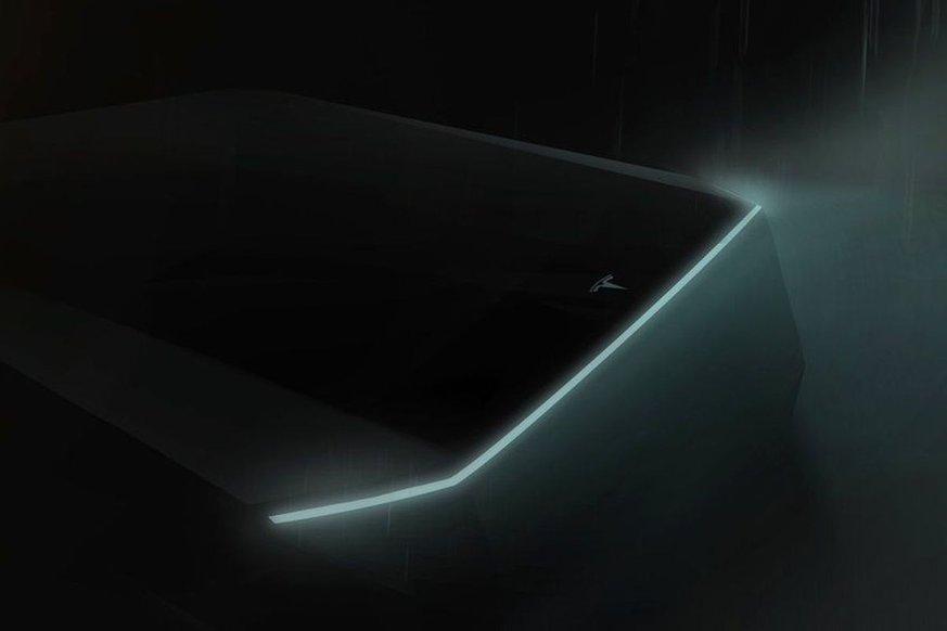 Tesla Cybertruck pickup teaser