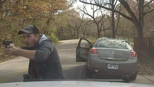 Полицейская камера записала видео с голливудской перестрелкой