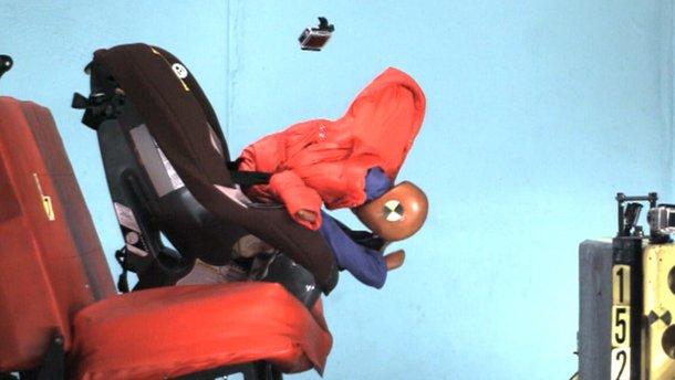 Не пристібайте дитину у автокріслі, якщо вона у зимовій куртці