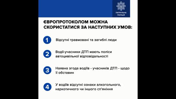 В Патрульній поліції показали як оформлювати європротокол: відео