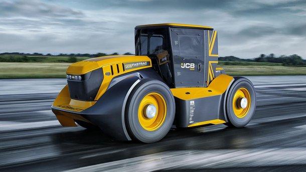 Трактор JCB Fastrac разогнался до 247,5 км/год