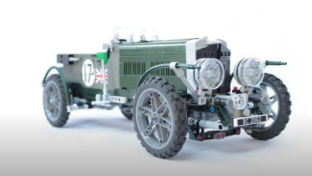 Фанаты Bentley Blower собрали легендарный ретрокар из кубиков Lego