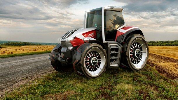 Steyr Konzept Tractor –це електричний трактор з дроном-компаньйоном: відео