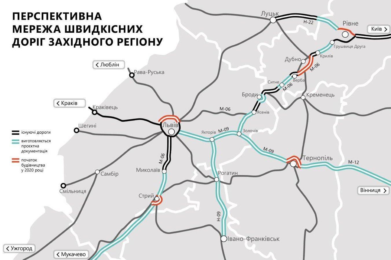 Укравтодор поділився планами нових доріг на Західній Україні