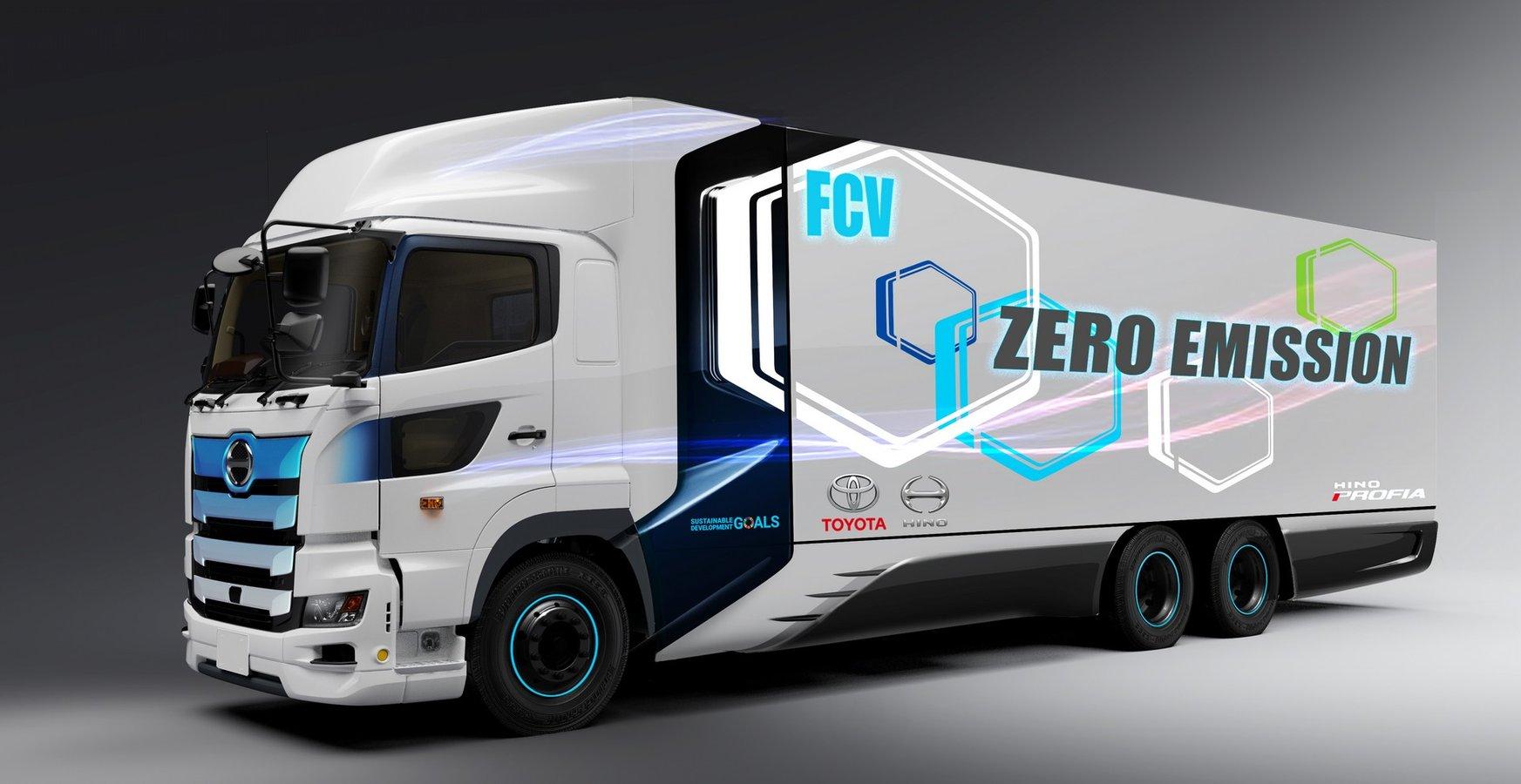 Toyota та Hino Motors анонсували важку вантажівку на водневих елементах і з технологіями від легкової моделі Mirai (фото)