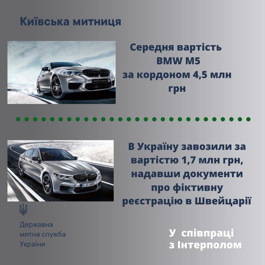 Київські митники конфіскували новеньку BMW M5