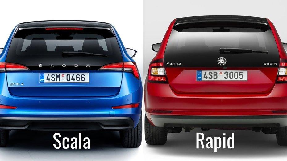 Skoda Scala: порівнюємо ціни з Rapid