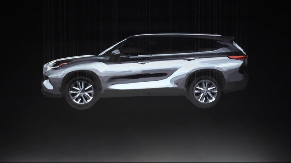 Toyota показала на відео нове покоління Highlander у вигляді оптичної іллюзії
