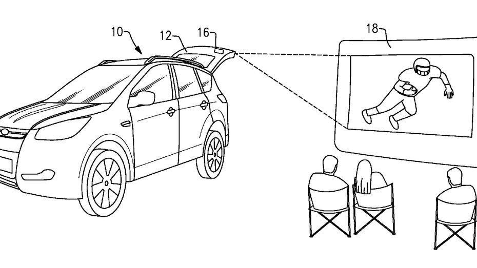 Ford пропонує перетворити дверку багажника на кінотеатр