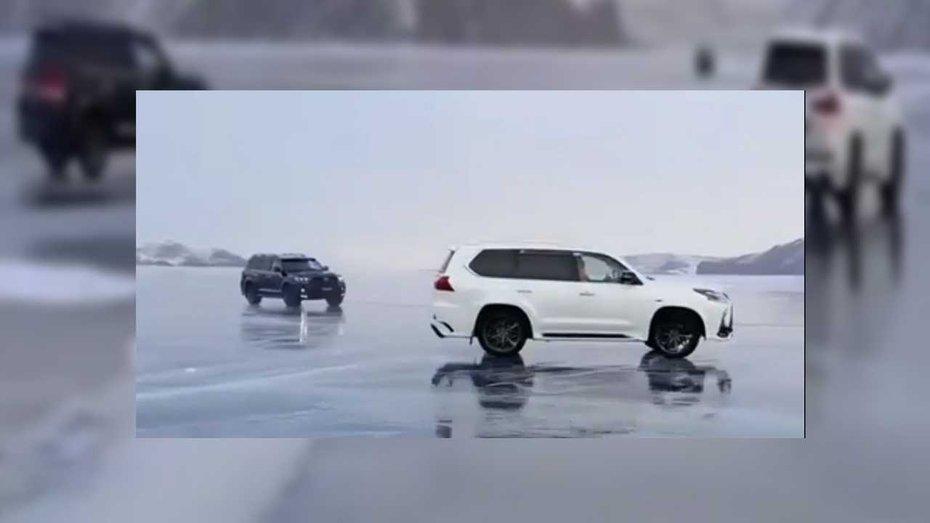 На крижаному озері Байкал зіткнулось два дорогих позашляховика: відео