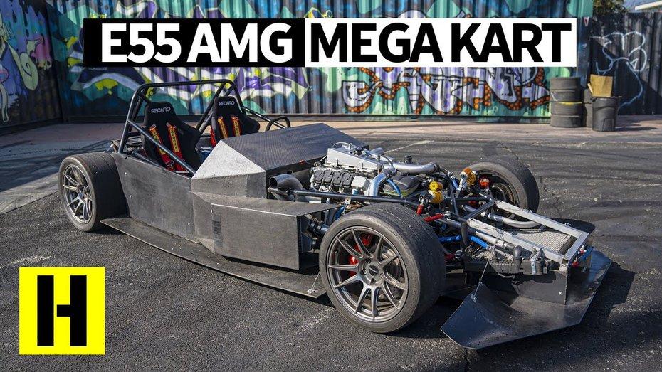 Mercedes E55 AMG перетворили на дріфтовий мега-карт з зарядом у 700 сил (відео)