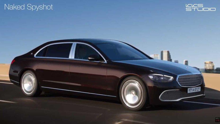 З нового Mercedes-Maybach S-Class зняли камуфляж (фото, відео)