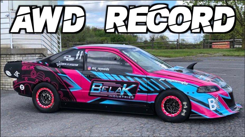 Найкрутіший Honda Civic у світі розганяється до 100 за 1,1 секунди: відео