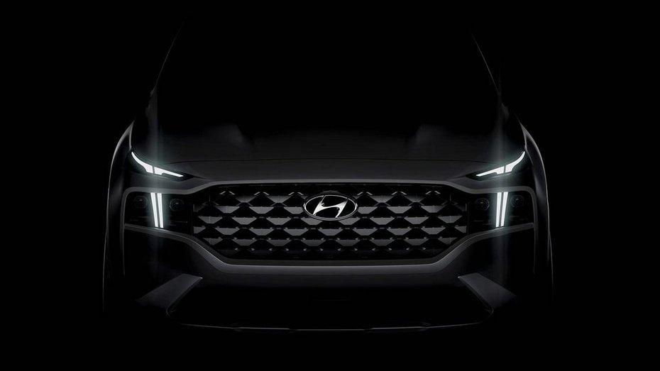 Hyundai Santa Fe 2020 вперше визирнув з темряви на офіційному фото