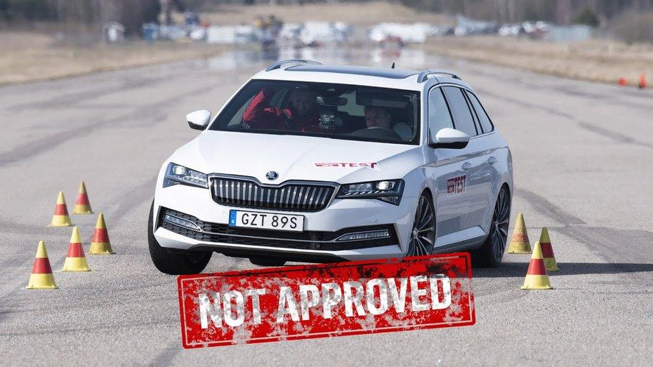 """Гібридні Skoda Superb і VW Passat не пройшли """"лосиний тест"""": відео"""