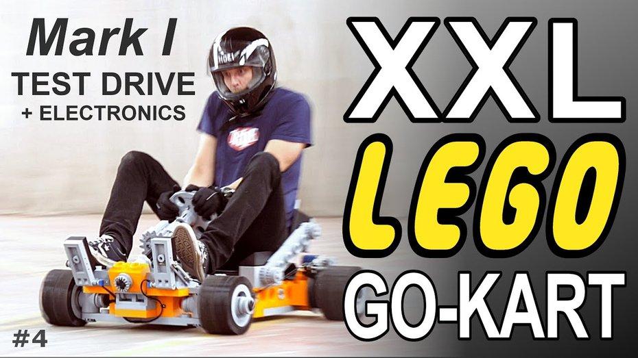 Lego XXL: ентузіаст збудував машинку Lego на якій може їздити доросла людина