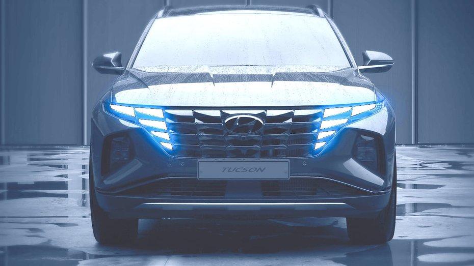 Не похож ни на кого: Hyundai Tucson 2020 показан на новых тизерах